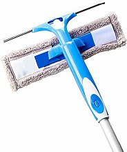Window Squeegee Cleaner with Microfiber Scrubber,