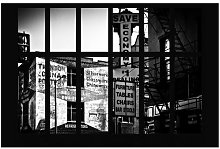 Window View American Building Facade Wallpaper