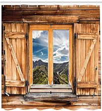 Window With a View Shower Curtain East Urban Home