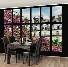 Window with View of Parisian Spring Semi-Gloss