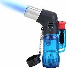 Windproof Gas Butane Lighter, Portable BBQ Lighter