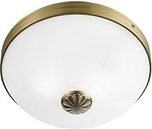 Windsor ceiling light with an antique brass look