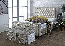 Windsor Crushed Velvet Upholstered Bed Frame -