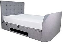 Windsor Fabric Tv Bed Frame With Side Ottoman