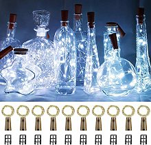 Wine Bottle Lights with Cork, 10 Pack Battery