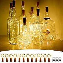 Wine Bottle Lights with Cork, [12 Pack] 2M 20 LEDs
