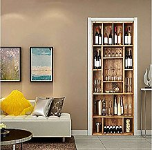 Wine Cabinet Door Sticker Adhesive Wallpaper Home