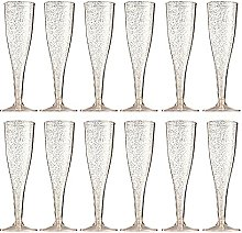 Wine Glass Champagne Flutes Glass Rose Gold