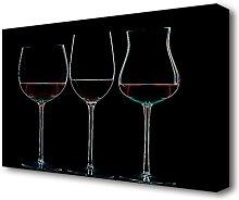 Wine Glass Kitchen Canvas Print Wall Art East