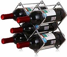 Wine Rack 5 Bottles Wine Storage Holder Foldable