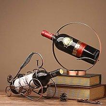 Wine Rack Creative Round Metal Wine Cabinet