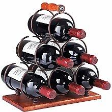 Wine Rack Metal Decorative Wine/Beverage Bottle