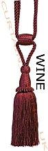 Wine - X2 Monaco Designer Tassel Rope Tie Back for