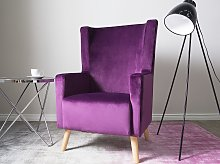 Wingback Chair Pink Purple Upholstery High Back