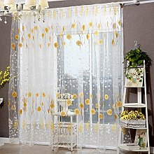 Wingbind Pastoral Style Voile Curtains,Sheer