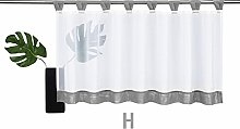 Wingbind Solid Color Short Sheer Curtains,Voile