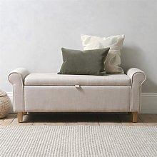 Winged Blanket Box - Stone Linen