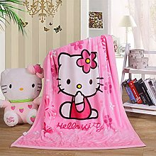 WINGSIGHT Cartoon Throw Blanket Hello Kitty Adults