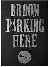 Wini2342ckey Broom Parking Here Print Broomstick