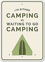 Wini2342ckey Camping Lifestyle Sign, Happy Camp