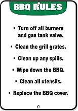 Wini2342ckey Home Decor Sign BBQ: Turn Off Burners