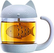 Winkee Tea Mug Cat with Integrated Tea Infuser  