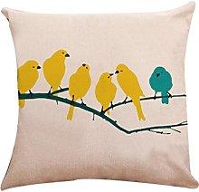 Winkey Pillow Case, 45X45cm Cotton Linen Pillow