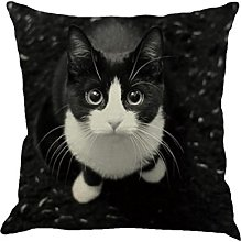 Winkey Pillow Case, Cat Pattern Cotton Linen