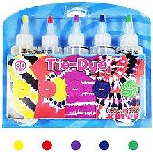 winnerruby Tie Dye Kit Adults,5 Colors Tie-Dye Kit