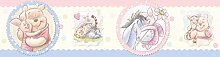 Winnie The Pooh and his Friends, self-Adhesive Border in The Room for a boy, Girls, Children's Room, 5 m x 14 cm, WBD 8066
