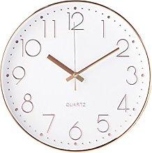 WINOMO 12 Inch Non-Ticking Silent Wall Clock Round