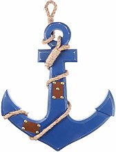 WINOMO Distressed Finish Blue Nautical Anchor Wall