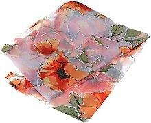 WINOMO Floral Window Sheer Transparent Panel