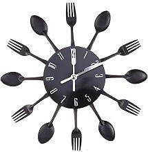 WINOMO Kitchen Wall Clock Modern Kitchen Cutlery