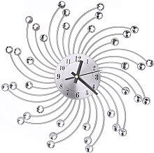 WINOMO Modern Wall Clock Diamante Crystal Timelike