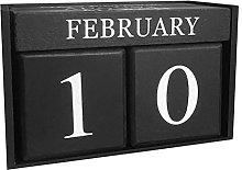 WINOMO Never Ending Wooden Date Calendar Wood