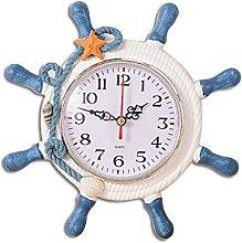 WINOMO Wheel Wall Clock Decoration Nautical Silent