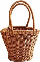 WINOMO Wicker Picnic Basket with Handle Portable