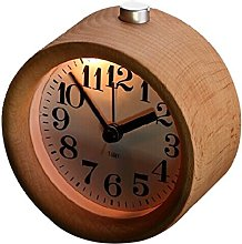 WINOMO Wooden Silent Clock Desk Travel Alarm Clock