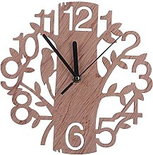 WINOMO Wooden Wall Clock Tree Shaped for House