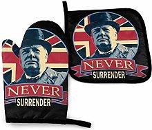 Winston Churchill Never Surrender Banner -Oven