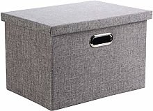Wintao Storage Box, Collapsible Linen Fabric