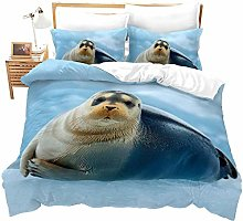 Winter 3D Bedding Set Quilt Cover Pillowcases