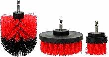 Winter 3pcs/set Car Wash Brush Hard Bristle Drill