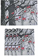 Winter Bullfinches Trees Placemats Kitchen Tables