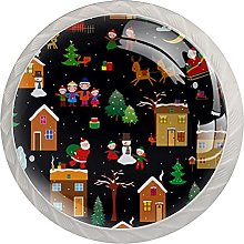Winter Christmas House 4 Pack Cupboard Cabinet