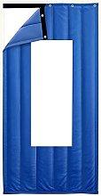 Winter Door Curtain with Transparent Window
