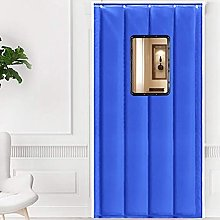 Winter Door Curtain with Window Thermal Protection