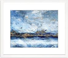 Winter Migration Framed Print & Mount, 82 x 97cm,