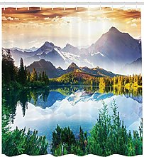 Winter mountain morning High-definition printed